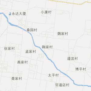 章丘市明水街道交通地图_明水
