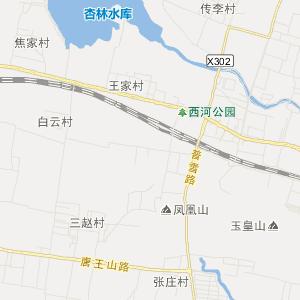 章丘市明水街道交通地图
