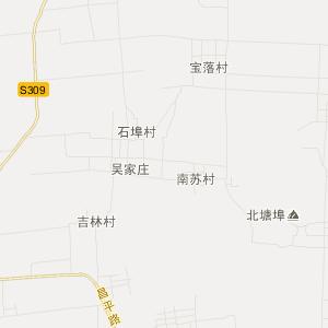 平度市田庄镇旅游地图
