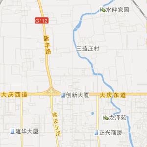 缸窑街道卫星地图 河北唐山路北区缸窑街道卫星地图