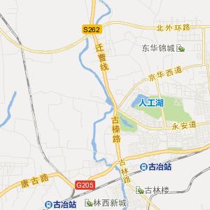 唐山市古冶区旅游地图