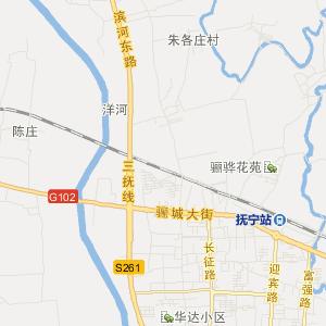 河北交通地图; 抚宁县抚宁镇在线交通地图实用查询图片