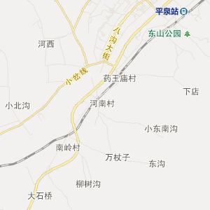 平泉平泉交通地图_中国电子地图网