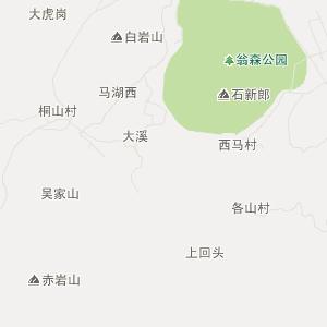 仙居双庙旅游地图
