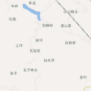 青田县鹤城镇旅游地图
