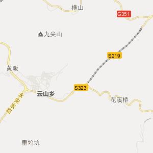 磐安县深泽乡旅游地图