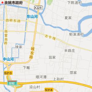 梨洲街道卫星地图 宁波市余姚市梨洲街道卫星地图