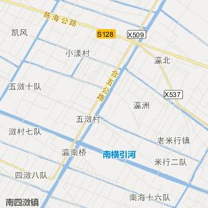 崇明向化交通地图_中国电子地图网