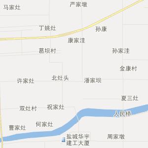东台市头灶镇旅游地图