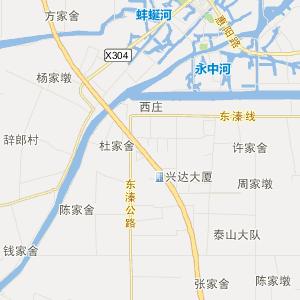 东台市五烈镇旅游地图