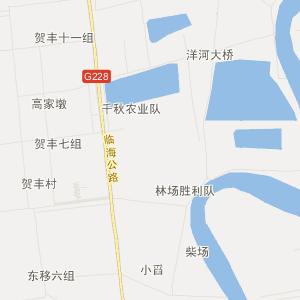 射阳县洋马镇交通地图