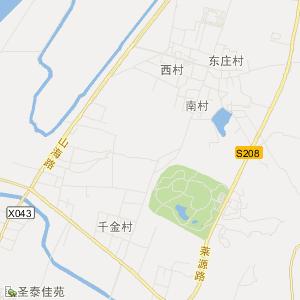 土左旗前朱堡地图