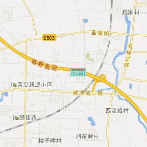 山东省青岛市即墨市卫星地图
