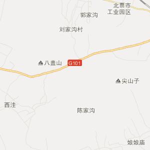 中国辽宁省朝阳市北票市地图
