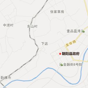 辽宁省旅游地图 朝阳市旅游地图