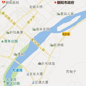 辽宁交通地图 朝阳交通地图