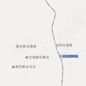 巴仁哲里木旅游地图图片