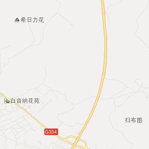 兴安科右中旗旅游地图