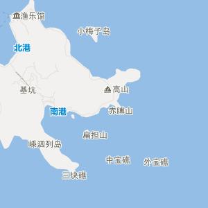 嵊泗县黄龙乡旅游地图