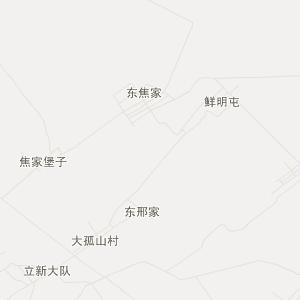 梨树县孤家子镇交通地图