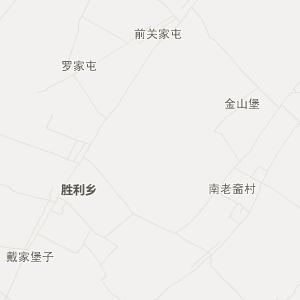 梨树县胜利乡旅游地图