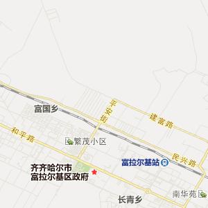 黑龙江旅游地图 齐齐哈尔旅游地图