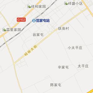 公主岭市范家屯镇旅游地图图片