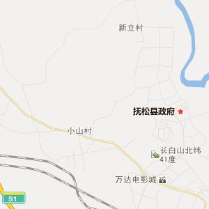 抚松县松江河镇旅游地图图片