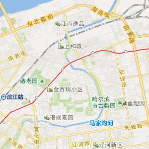 黑龙江省旅游地图 哈尔滨市旅游地图