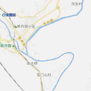 延边安图交通地图_中国电子地图网