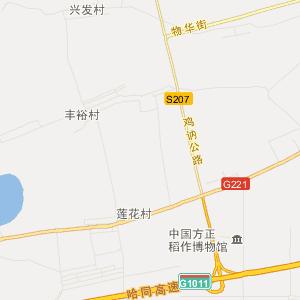 哈尔滨方正旅游地图_中国电子地图网图片