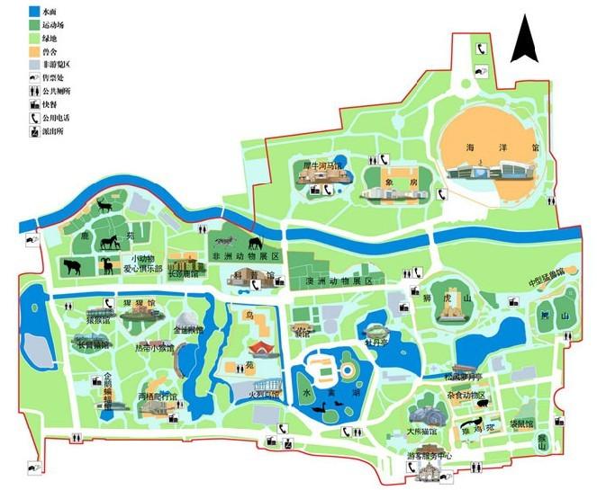 景山公园手绘地图