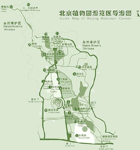 手绘北京导游图