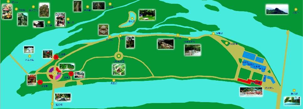 欧式山水风景油画河船