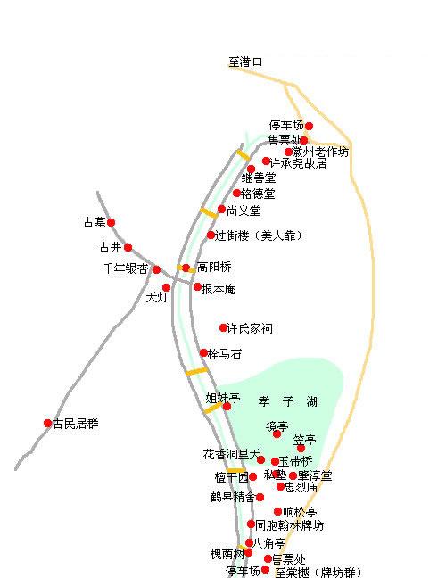 黄山景区地图索道