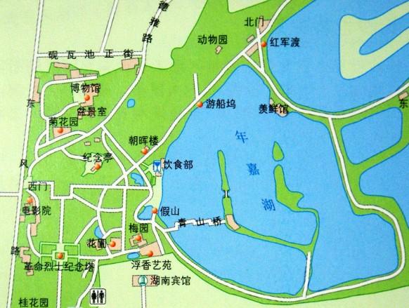 公园手绘导游图