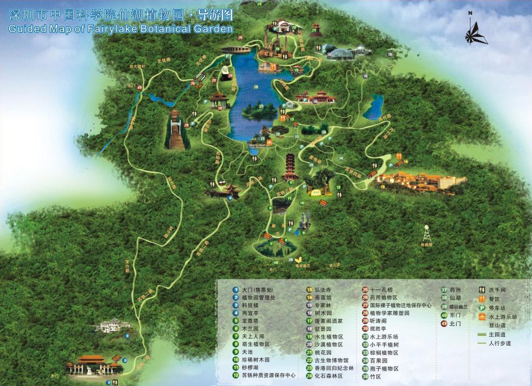 广州植物群落平面图