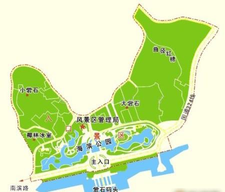 青岛地图天坛公园