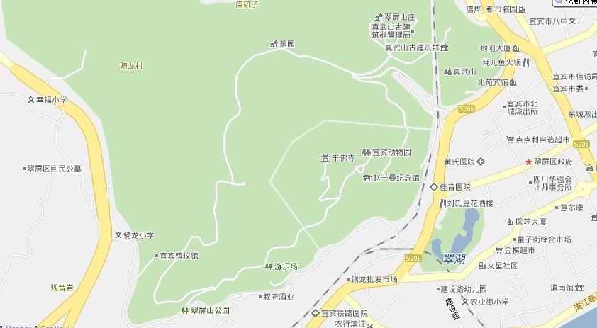 宜宾翠屏山地图