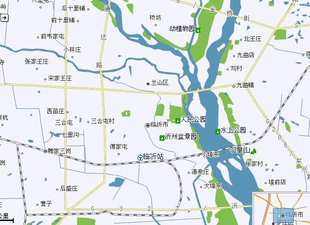 临沂市兰山区地图图片