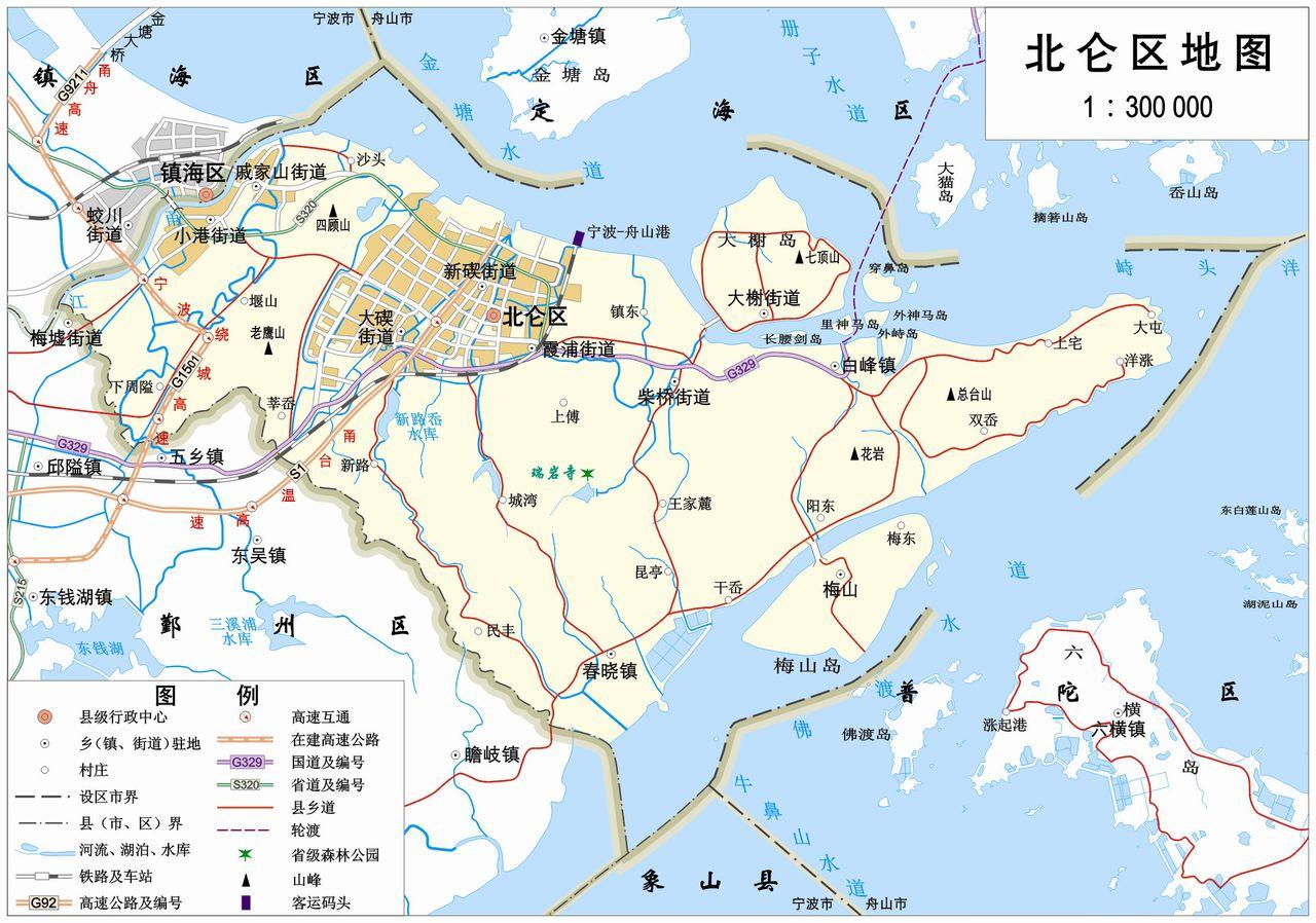 北仑位于宁波市东部,濒临东海,三面环海,北临杭州湾,南临象山港.图片