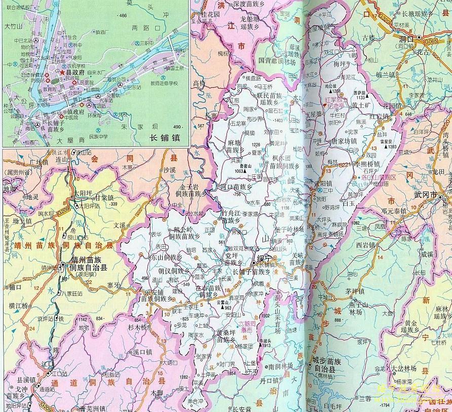 邵阳市绥宁县地图