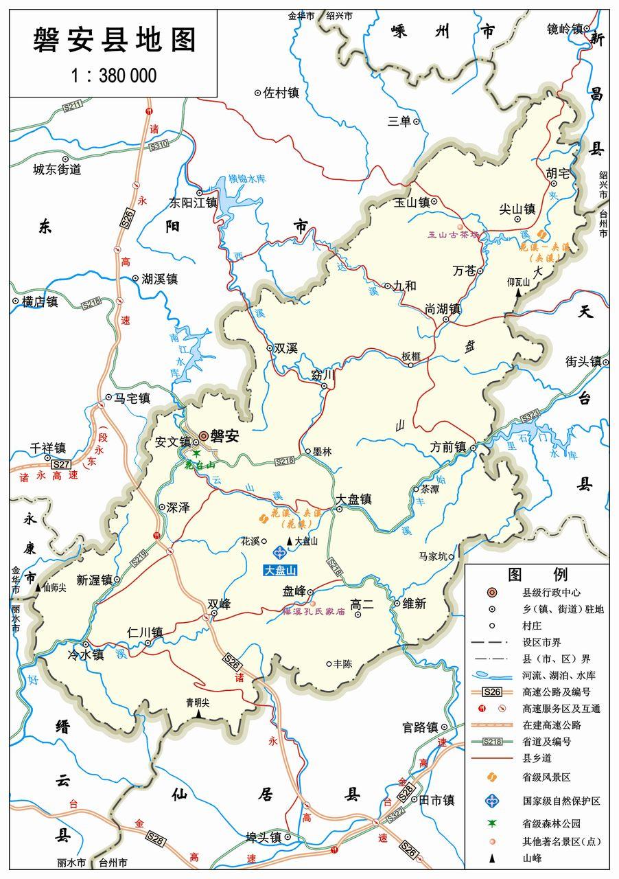 天台风景区地图