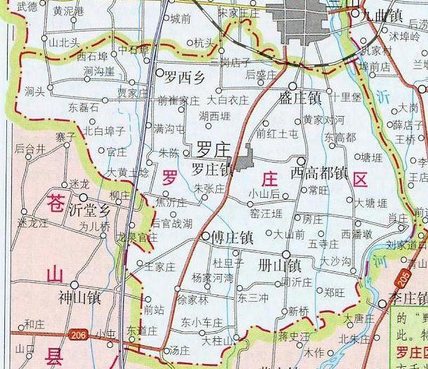临沂市罗庄区地图