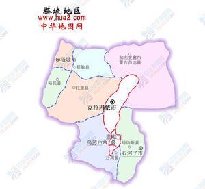 【塔城地区和布克赛尔蒙古自治县地图】新疆维吾尔区.