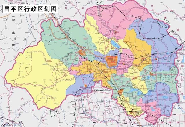 北京市昌平区地图