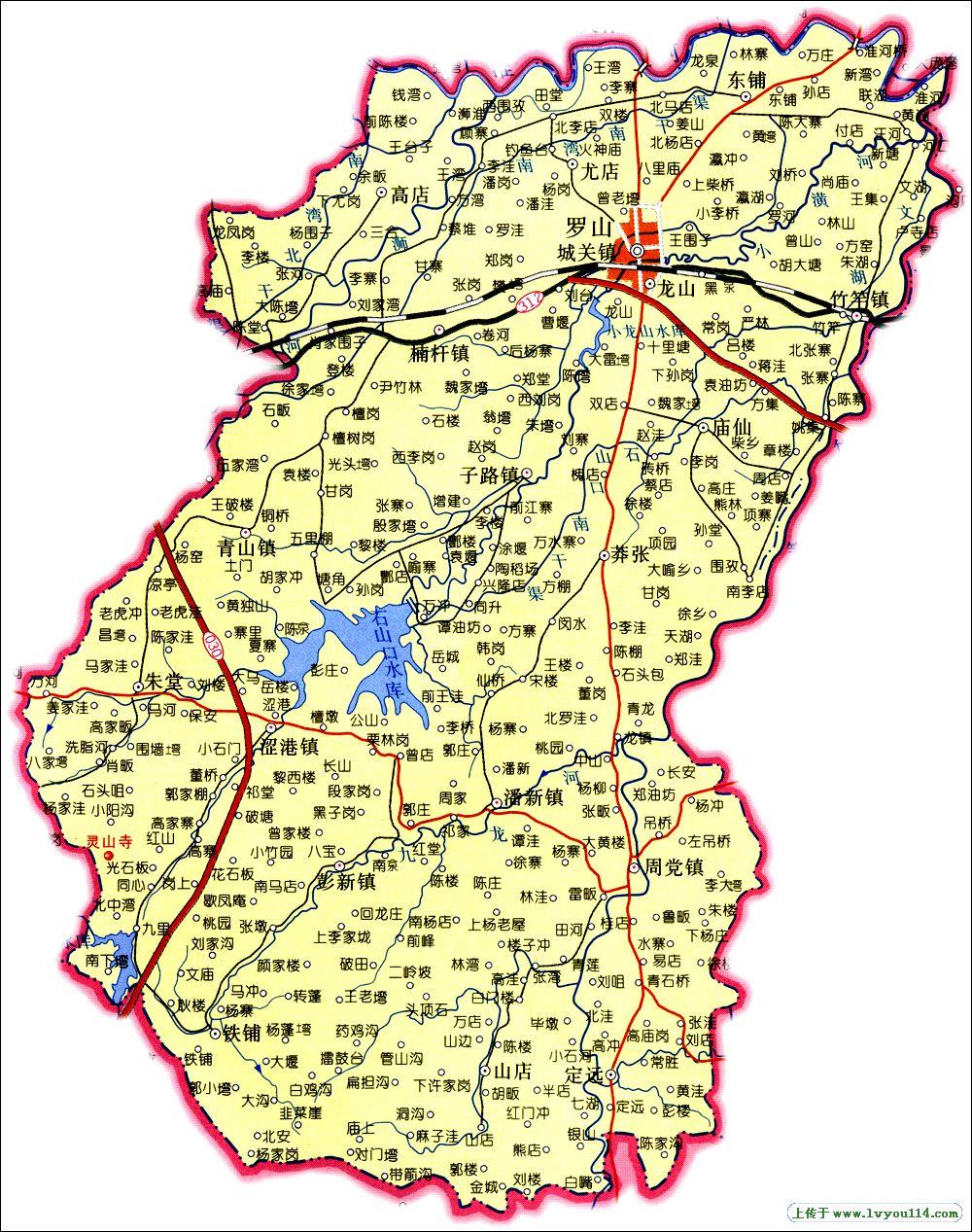 【信阳罗山县地图】河南省信阳罗山县地图查询,信阳县