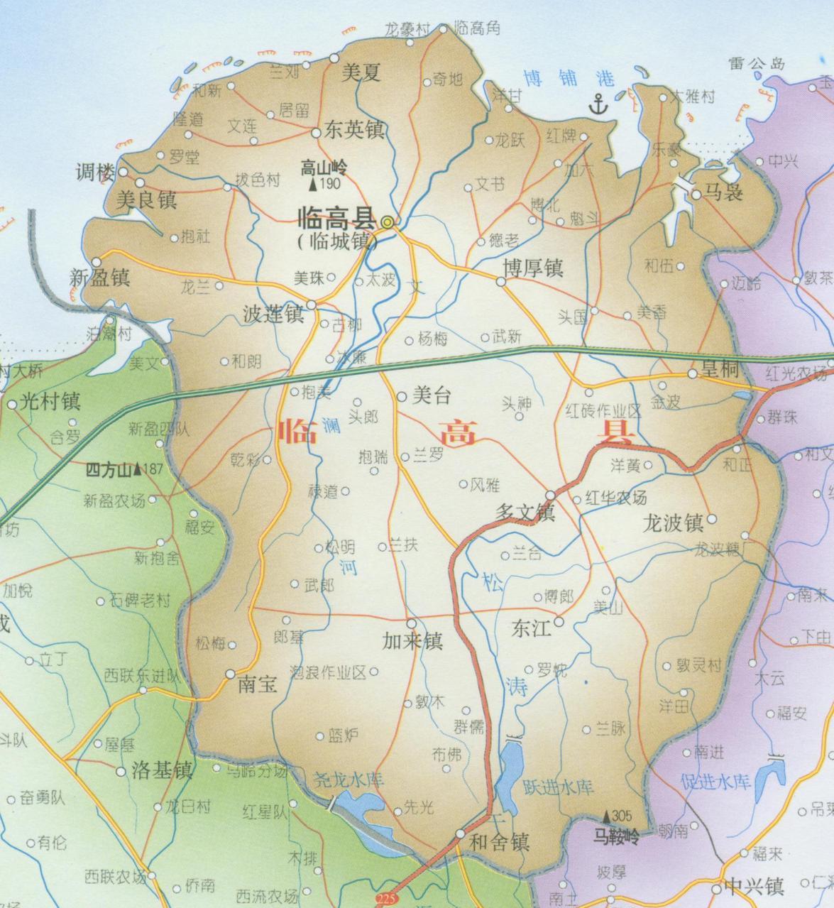 【临高县地图】海南省临高县地图查询,临高县电子地图