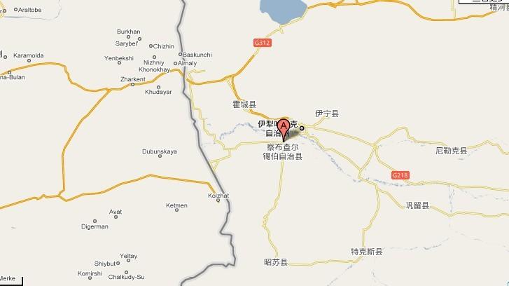 新疆维吾尔自治区伊犁哈萨克自治州察布查尔锡伯自治县地图查询,