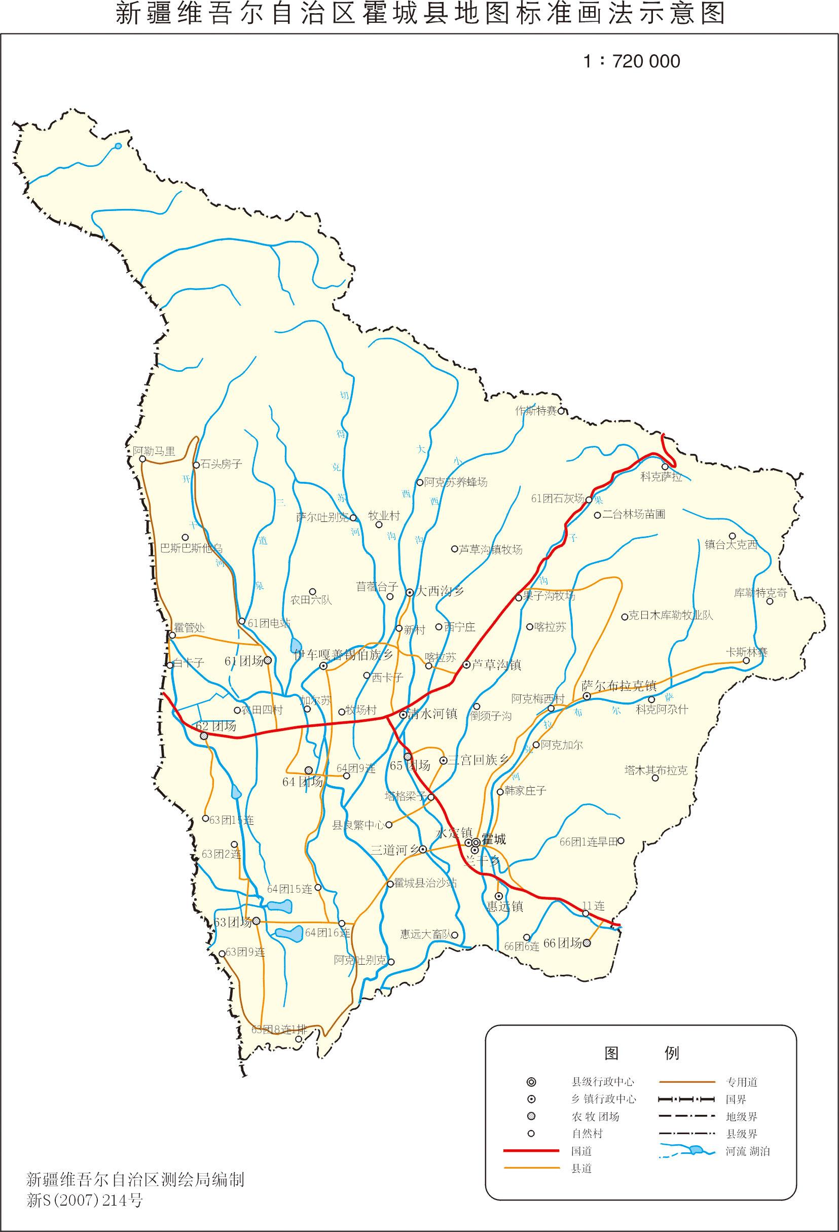 伊犁霍城县电子地图,伊犁霍城县行政地图全图,高清版大图